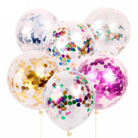 2019 Moda Multicolor Lantejoulas De Látex Cheio De Balões Transparentes Novidade Crianças Brinquedos Bonito da Festa de Aniversário de Casamento Decorações 0601984