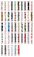 Neue Farben-Blumenblumen-Bands für Apple-Uhr-Serie 4 3 2 1 40mm 44mm, Silikon-Muster gedruckt Band für IWatch Serie 4 3 2 1 38mm 42mm