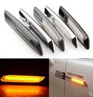 brillante coche 2pcs Fender marcador lateral de color ámbar de la lámpara a su vez condujo, luces de señalización para BMW E60 E61 E81 E82 E87 E88 E90 E91 E92 E93, impermeable