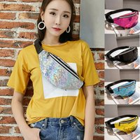 Fashion Waist Packs Zipper Fashion Neutral Laser Beach Bags ...