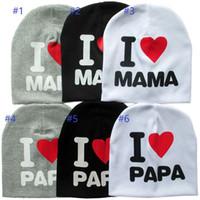 幼児の赤ちゃん子供のための暖かい綿のビーニーの帽子少女私はパパママを愛する赤ちゃんの帽子