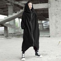 Felpa Harajuku Felpa con cappuccio Donna 2018 Autunno Streetwear Stampa Kpop Abbigliamento Felpa con cappuccio lunga Cappotto Donna stile coreano Tumblr Moletom