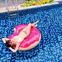 70 80 90 100 120cm Giant Donut Inflatable Swimming Ring For ...