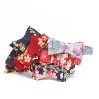 Chat Colliers Mulitcolor imprimé cerise motif fleur Dorure Bow Tie Dog Outils de formation de collier pour les petits animaux 3 53amg E1