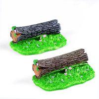 1pcs Stump Fairy Garden Miniatures Miniature Jardin terrario Decor Bonsai Ornamenti Moss Micro colore casuale Paesaggio