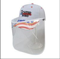 Trump Cap Mask rendere l'America Great Again 3D del cappello del ricamo di baseball esterno smontabile trasparenti maschere cappello di protezione del lato scudo LJJA4043-1