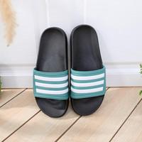 Mode Luxus Designer Frauen Schuhe Slipper Home Fashion Allgleiches Streifen Flacher Boden Bad Liebhaber Hausschuhe Schwarz Grün Größe 35-40