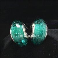 Fai da te perline a mano murano argento 925 Sparkling Facaded Vetro Di Murano Perle Charm Fits monili europei Pandora Bracciali-F05