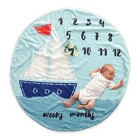 INS Flanell Fotografie Hintergrund Requisiten Decken kreisförmige Decke Windeln Blume Nummer Brief Neugeborenes Baby Wraps 95cm C4169