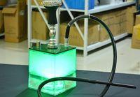 LED Nargile Recycler Oil Kuleleri Cam Bong Su Borusu En Iyi Bongs Su Bong Akrilik Shisha Ücretsiz Kargo