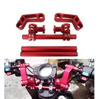 "Manubrio sterzo regolabile da moto cnc 7/8 ""22mm maniglia rimovibile Sistema barra bar 125CC Pit Bike Dirt Bike Motobike Scooter"