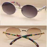 Marke Natürliche Pfau Holz Sonnenbrille Für Männer Frauen Retro Runde Sonnenbrille Große Rahmen Holz Sonnenbrille 57mm mit Original Case 7550178