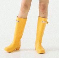 Hot Sale-TS haute couture aide bottes hautes bottes de pluie style britannique bottes puissance imperméable chaussures eau multicolore
