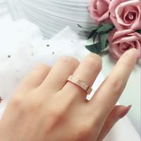 럭셔리 풀 다이아몬드 사랑 반지 스테인레스 스틸 로즈 골드 커플 밴드 링 패션 실버 18K 금색 애호가 링 여성용 남성 쥬얼리
