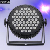 Fusion d'alluminio 54x3w RGB LED par 3-in-1 3w ha condotto la piana par fase DMX512 DJ illumina la spina di aeronautica
