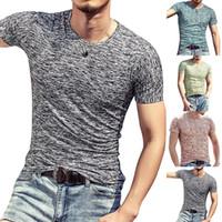 Sommer 2019 Männer T Shirts Sommer Sport Running Top Tees Herren Bekleidung Kurzarm Casual O Neck Baumwolle Fitness T-Shirt Sportwear