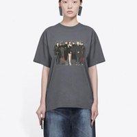 vente chaude 20SS bande Modèle photo imprimée T Rue ras du cou à manches courtes Hommes Femmes haut de gamme Voyage T-shirt d'été Respirant T