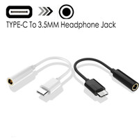 نوع C إلى 3.5mm سماعة كابل محول USB 3.1 نوع C الذكور إلى 3.5 AUX الصوت ذكر جاك لنوع C الهاتف الذكي