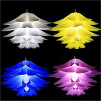 55cm Lotus luci a sospensione ombra E27 Quattro - colore lampadari a soffitto cavo LED Decorative Luci del pendente luci led