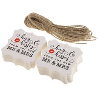 "Wedding Paper Tags, "" Hug & Kisses from The New MR & MRS&..."
