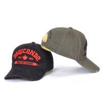 venta caliente sombreros para hombre del diseñador de moda Gorra bordado de lujo sombrero DSQICOND2 ajustable detrás de las letras tapa de lujo D2