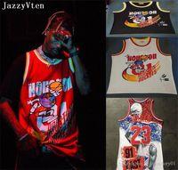 브랜드 Travis Scott X BR x Mn 01 잭 리포트 농구 유니폼 남성 힙합 스트리트 유니폼 셔츠 최고 품질