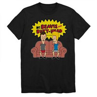 Beavis and Butthead Shirt Sitting Couch Classic MTV 90s Cart...