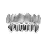 Ювелирное Hip Hop Мужчины Лучшие Bottom Зубы Grillz Набор Золото Серебро Bump Lattice Ложные Стоматологическая Грили для женщин Hiphop Рэпер тела