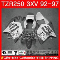 Karosserie für YAMAHA TZR 250 TZR250 Grauweiß heiß 3XV 92 93 94 95 96 97 YPVS RS 119HM.112 TZR250RR TZR-250 1992 1993 1995 1995 Verkleidung