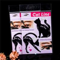 ماكياج الجمال الحاجب قالب الاستنسل 2PCS / LOT المرأة القطة الخط برو العين أداة كحل الإستنسل قالب المشكل نموذج للنساء الشحن 50pairs