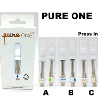 순수 한 Vape 카트리지 포장 0.8 ㎖를 분무기 (510) 세라믹 전자 담배 두꺼운 2.0 ㎖ 오일 구멍에 펜 기화기를 눌러 비우기 1.0 ㎖