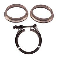 4 pouces V Bande de serrage avec 304 brides en acier inoxydable - Parfait pour Turbo, Descentes, systèmes d'échappement - 4po SS Vband, V-Band Bride Kit