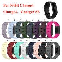 Новейшая мода смарт силиконовый ремешок группа для Fitbit Charge 4 Замена браслет Браслет регулируемый для Fitbit Charge 3 3 SE 100 шт.