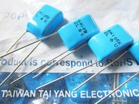 Taiwan TAI YANG film capacitors CBB 6H2L105k 400V 105 1uf feet away from P10mm