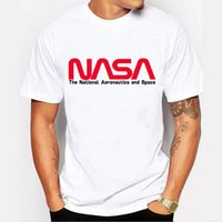 NASA element design fun brand cotton short sleeve street beach men's casual T-shirt fun personality men's short sleeve shirt#773