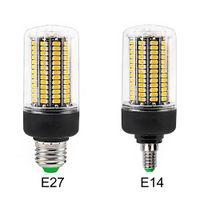 DHL Светодиодная лампа E27 E14 SMD5736 Светодиодные лампы AC 110V-220V LED Corn Light 12W 15W 20W Нет Flicker для гостиной Ампулы