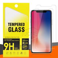 PRO MAX X XS XR-Schirm-Schutz für LG Stylo 5 V40 Samsung A20E A50-Schutz-Film gehärtetes Glas für 2020 NEW Iphone 11 mit Kleinpackag