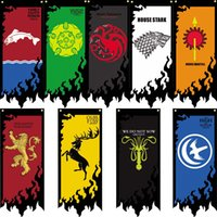 Banderas de GoodFlag Game of Thrones banner 2X5 FT 60 * 150CM Polyster Outdoor