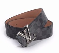 New men' s belts B letters smooth buckle leisure busines...