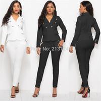 2018 ternos novos negócios Pant Alta Qualidade Set Blazers formais Mulheres elegantes Plaid 2 conjuntos de peças Uniforme Jackets Set