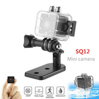 Nueva SQ12 Impermeable 155 grados Lente gran angular HD 1080P Videocámara de gran angular DVR SQ12 Mini Cámara deportiva SQ11 SQ8 Dashcam Mini DV