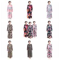 فتاة الموضة الزهور فستان طويل بوهيميا طويلة الأكمام الأطفال الأميرة اللباس الطفل ملابس الأطفال زهرة طباعة اللباس شاطئ RRA3118