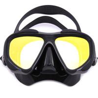 Whale Professional masque de plongée en apnée avec masque de plongée en silicone couleur miroir Mm-2600