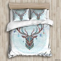 Duvet Cover Sets Colorful deer custom Bed Linens Bedding Set...