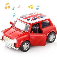 1:38 Alliage voiture Tirez le dos Diecast Modèle Jouet Sound Collection Son Lumière Brinquedos Voiture Voiture Jouets pour garçons Enfants Cadeau de Noël