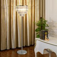 Nuovo design moderno creativo piano D 38 centimetri x H 160 centimetri di cristallo lampade a LED lampada da terra per soggiorno sala studio lato camera da letto