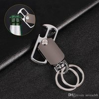 Personalizado Chaveiros Chaveiros Chaveiros Fivela de Metal Cintura Giratória Bottle Opener Ferramenta Chaveiro Anel Titular