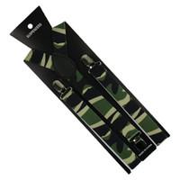 Bretelles Winfox Mode 2,5 cm Large Hommes Femmes Unisex Clip-on camouflage Camo Camo Bretelles élastiques