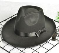 Sombreros de ala de manera femeninos del resorte y del verano del jazz del sombrero masculino del sombrero del sol-shading para hombres y mujeres de Michael Jackson sombrero del estilo