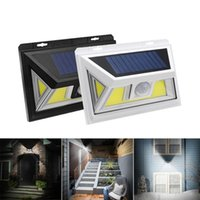 Edison2011 10W PIR Sensor de movimiento Solar LED Light 74 COB LED 500LM Lámpara impermeable de pared de gran angular para exteriores, impermeable